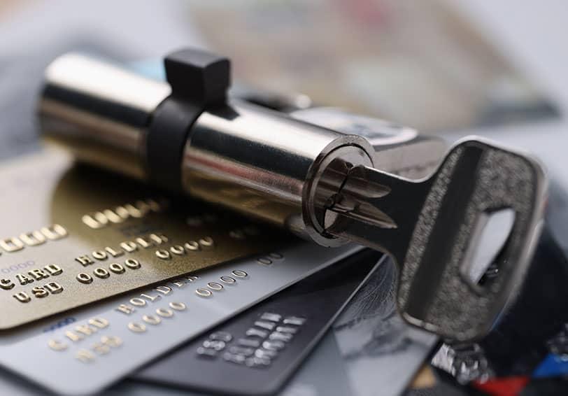 Image d'une clé sécurisée et adaptée pour les coffres-forts de banque