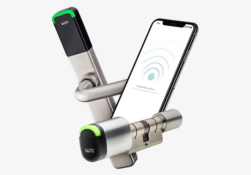 Contrôleur d'accès digital SALTO et son application mobile connectée