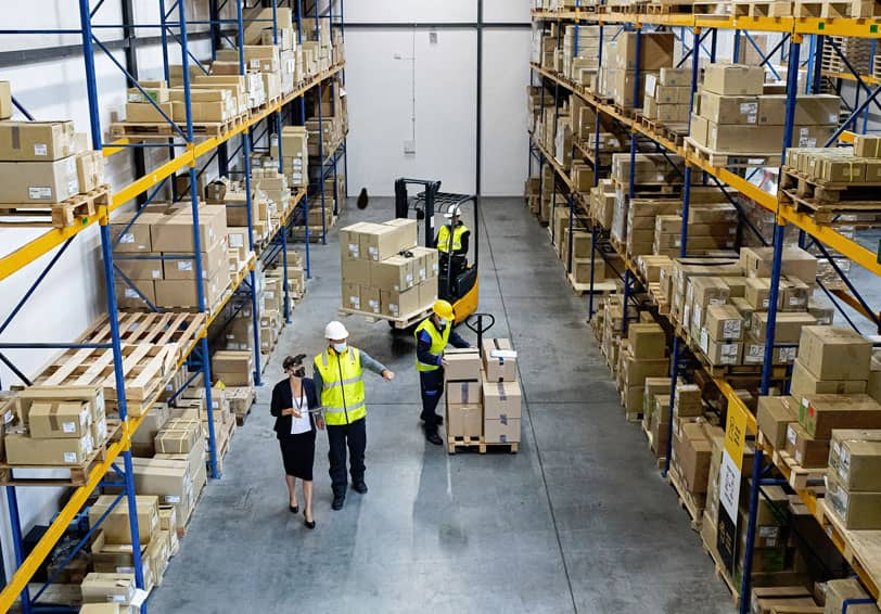 Image d'un entrepôt de stockage pouvant être aménagé pour en optimiser sa sécurité