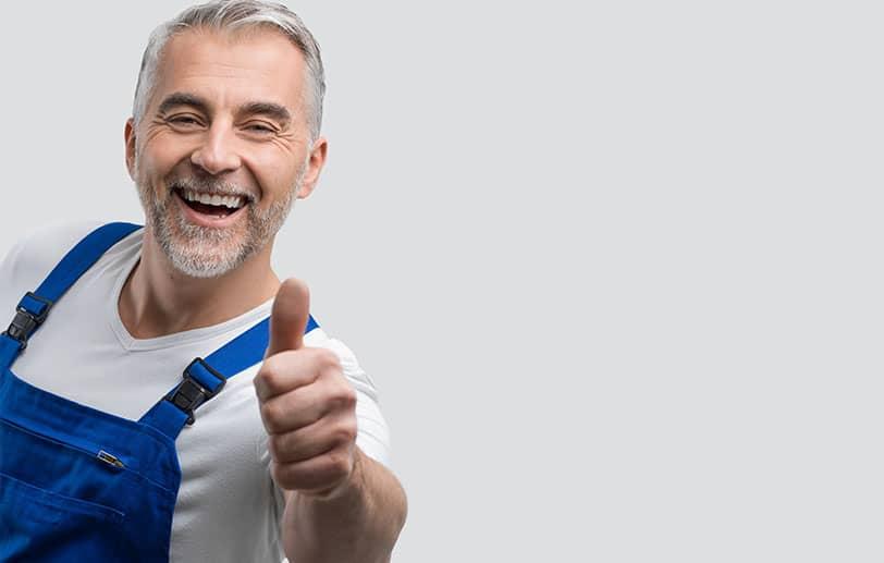 Image d'un employé DC Système exprimant les valeurs de l'entreprise