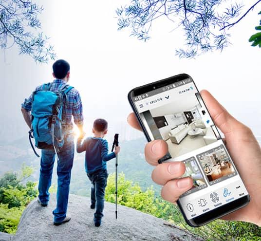 Partez serein tout en gardant un œil à votre habitation grâce aux caméras connectées VISONIC