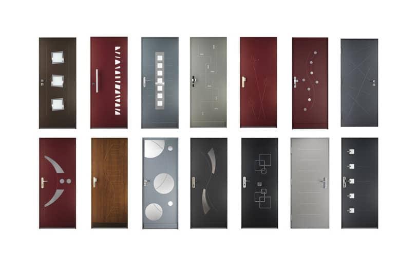 Divers matériaux et coloris de portes blindées et sécurisées