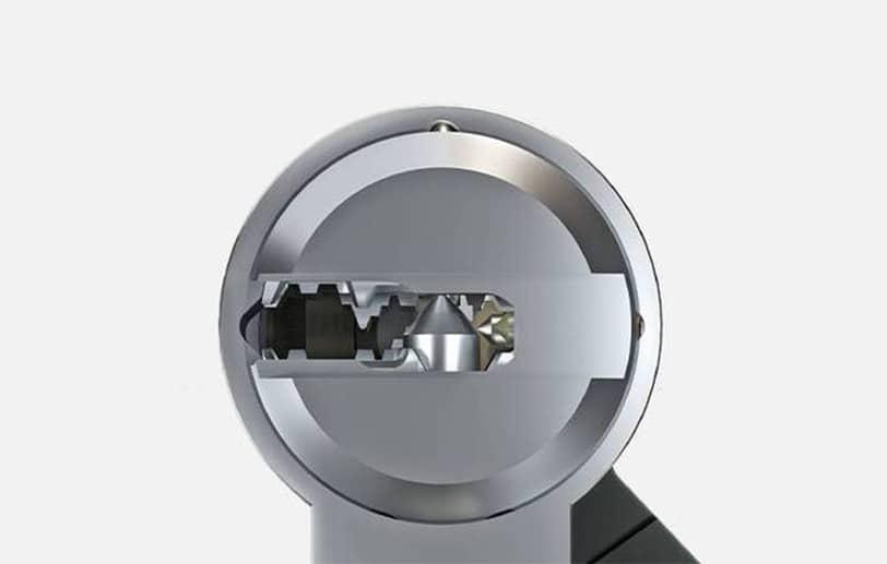 Vue d'une serrure mécanique ABUS