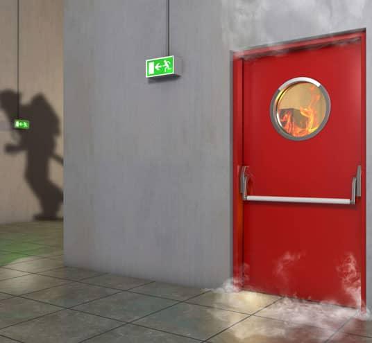 Protection accrue à l'aide de portes coupe-feu